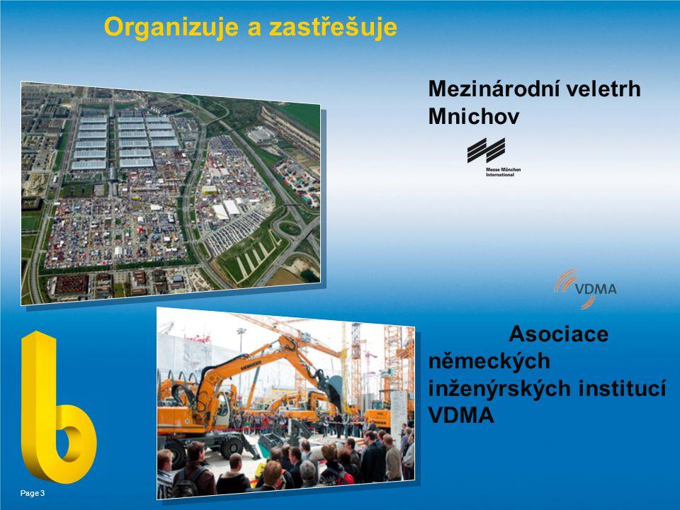 Page 3 Organizuje a zastřešuje Mezinárodní veletrh Mnichov Asociace německých inženýrských institucí VDMA