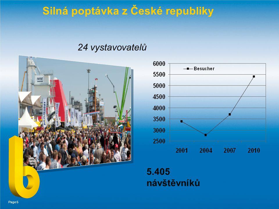Page 5 Silná poptávka z České republiky 24 vystavovatelů 5.405 návštěvníků
