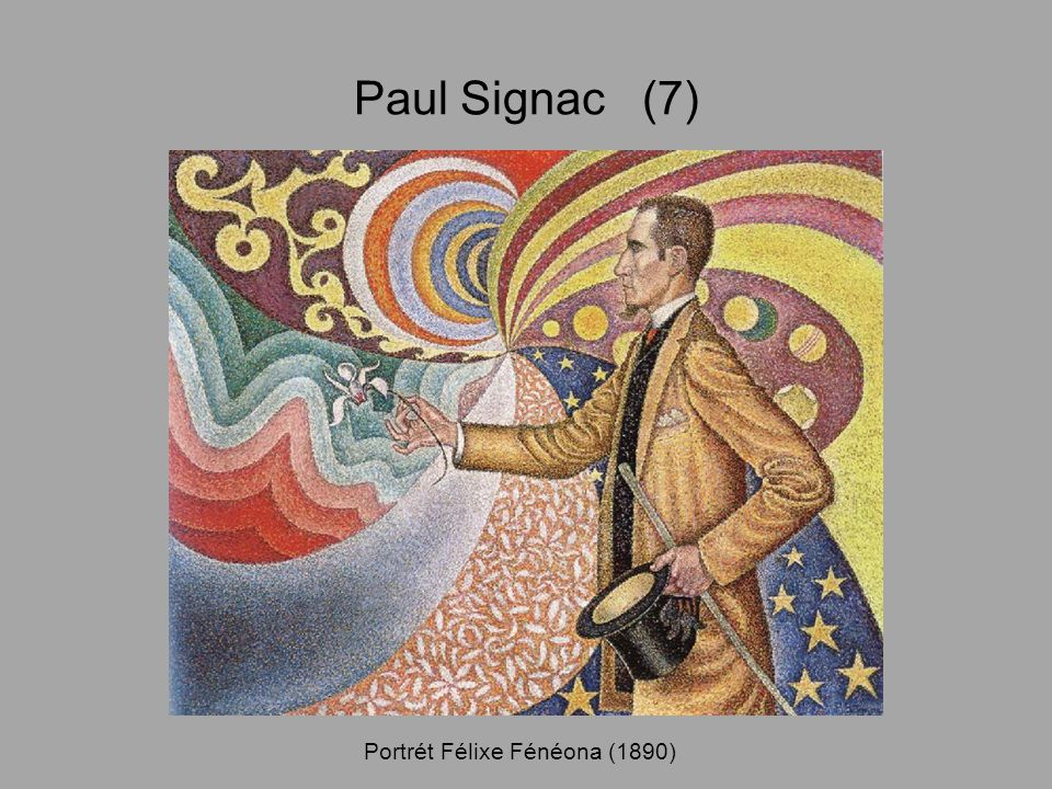 Paul Signac (7) Portrét Félixe Fénéona (1890)