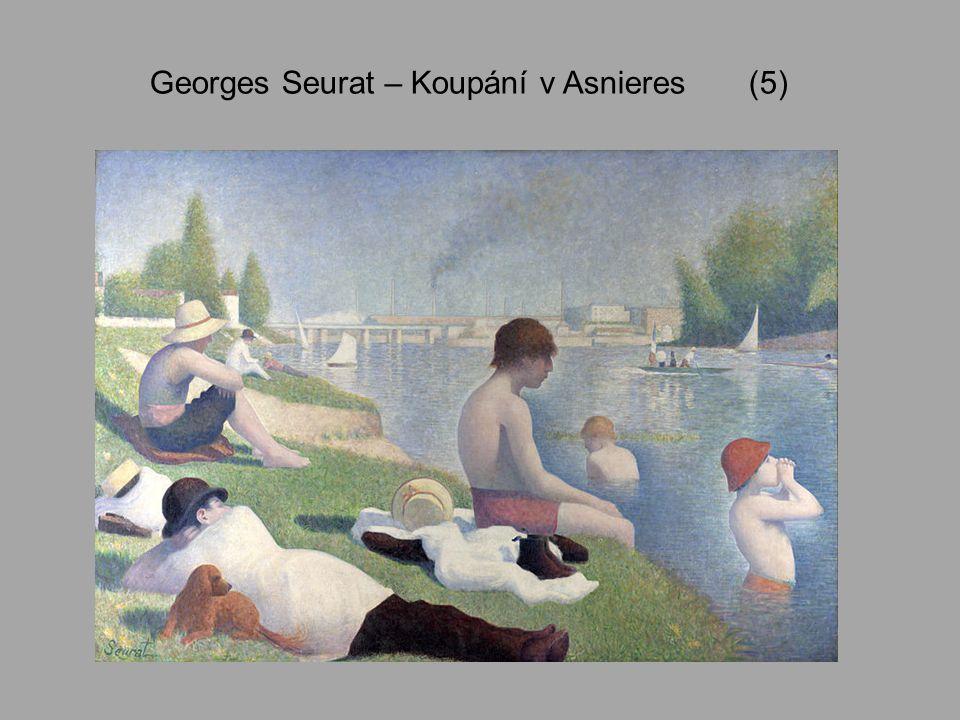 Paul Signac 1863 - 1935 Francouzský malíř, divizionista, obdivovatel Clauda Moneta Dílo – zaujetí světlem a barvou, zpočátku maloval stejnou technikou jako Seurat, později svůj osobitý styl – barevně živější Náměty – různorodost – městská panoramata, krajinky, mariny, postavy