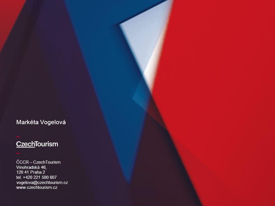 _ _ ČCCR – CzechTourism Vinohradská 46, 120 41 Praha 2 tel. +420 221 580 607 vogelova@czechtourism.cz www.czechtourism.cz Markéta Vogelová