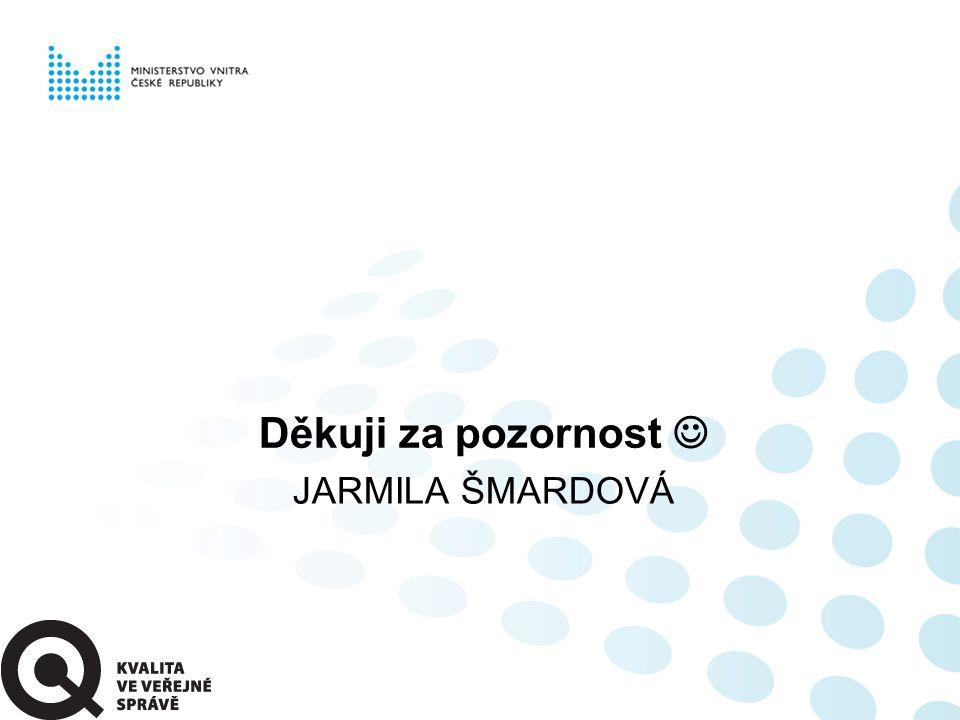 JARMILA ŠMARDOVÁ Děkuji za pozornost