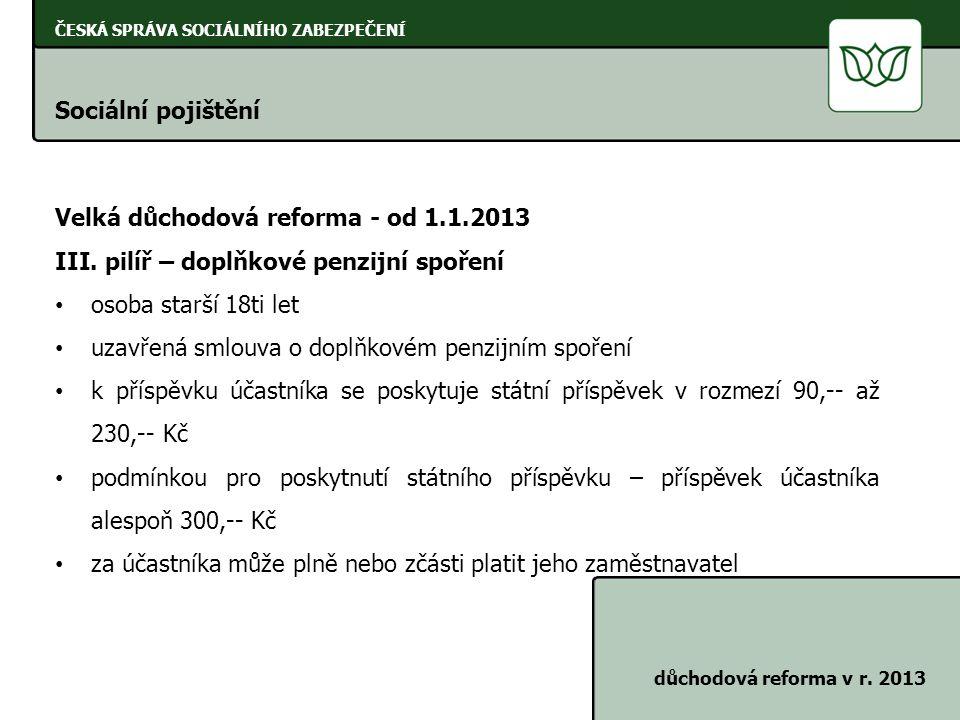 ČESKÁ SPRÁVA SOCIÁLNÍHO ZABEZPEČENÍ Úkoly zaměstnavatelů při provádění důchodového pojištění zákon č.