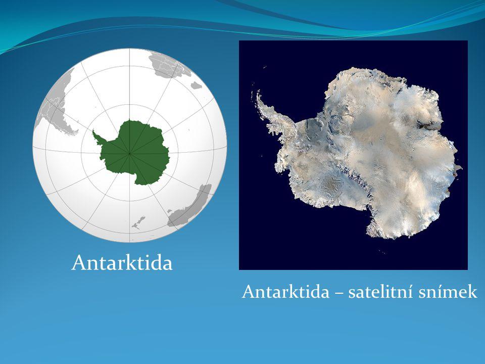 Antarktida Antarktida – satelitní snímek