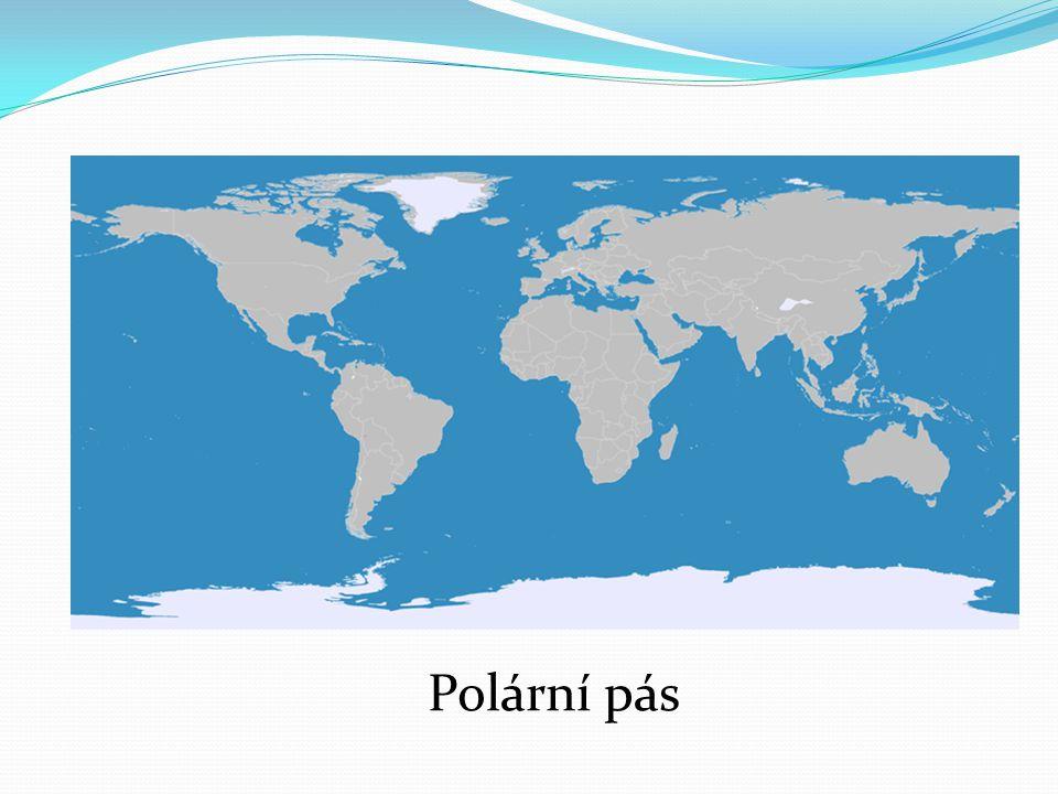 Polární pásy se rozkládají v nejsevernější části severní polokoule a v nejjižnější části jižní polokoule.