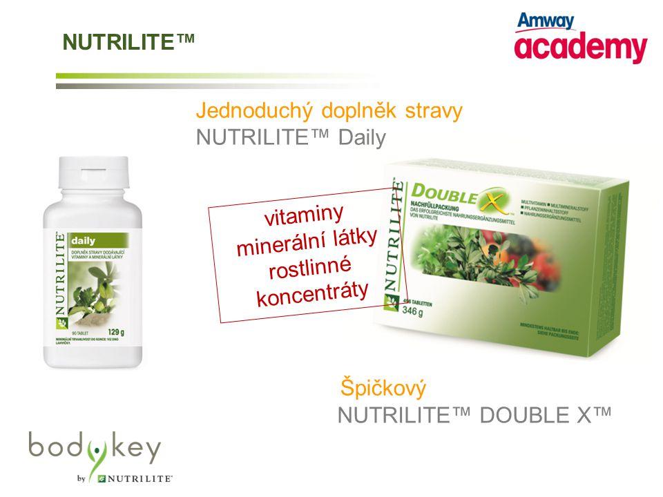 Jednoduchý doplněk stravy NUTRILITE™ Daily vitaminy minerální látky rostlinné koncentráty NUTRILITE™ DOUBLE X™ Špičkový NUTRILITE™