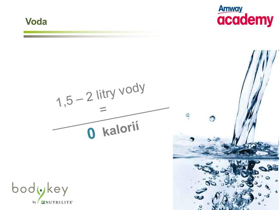 1,5 – 2 litry vody = _________________ 0 kalorií Voda
