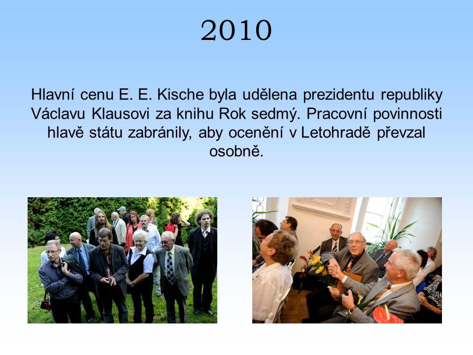 2010 Hlavní cenu E. E.