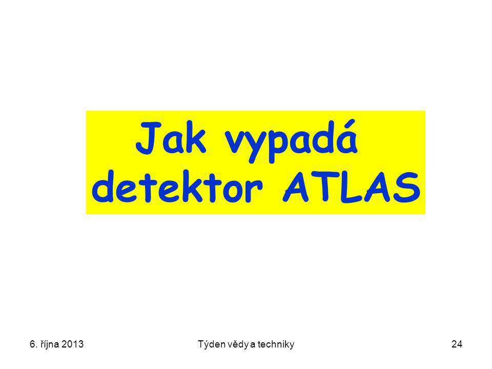 6. října 2013Týden vědy a techniky24 Jak vypadá detektor ATLAS