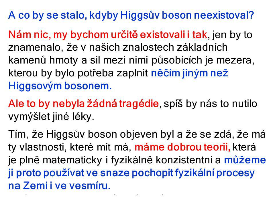 6.října 2013Týden vědy a techniky49 A co by se stalo, kdyby Higgsův boson neexistoval.