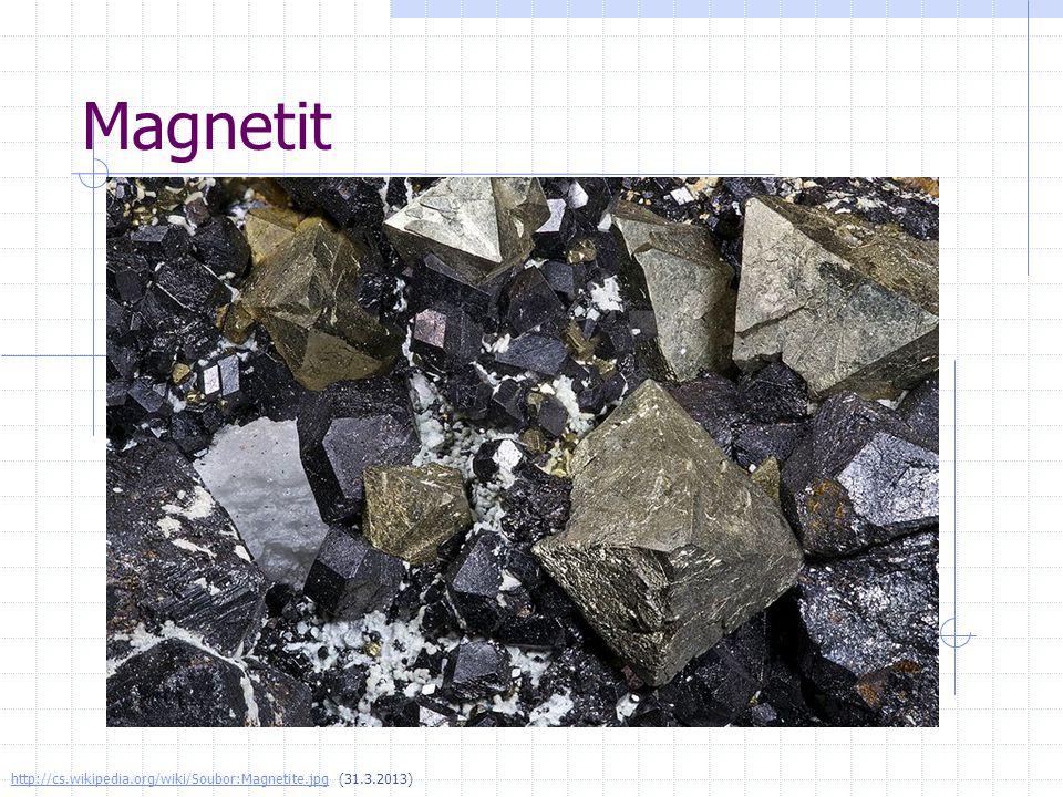 Magnetit http://cs.wikipedia.org/wiki/Soubor:Magnetite.jpghttp://cs.wikipedia.org/wiki/Soubor:Magnetite.jpg (31.3.2013)