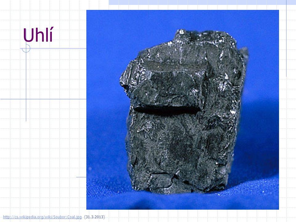 Uhlí http://cs.wikipedia.org/wiki/Soubor:Coal.jpghttp://cs.wikipedia.org/wiki/Soubor:Coal.jpg (31.3.2013)