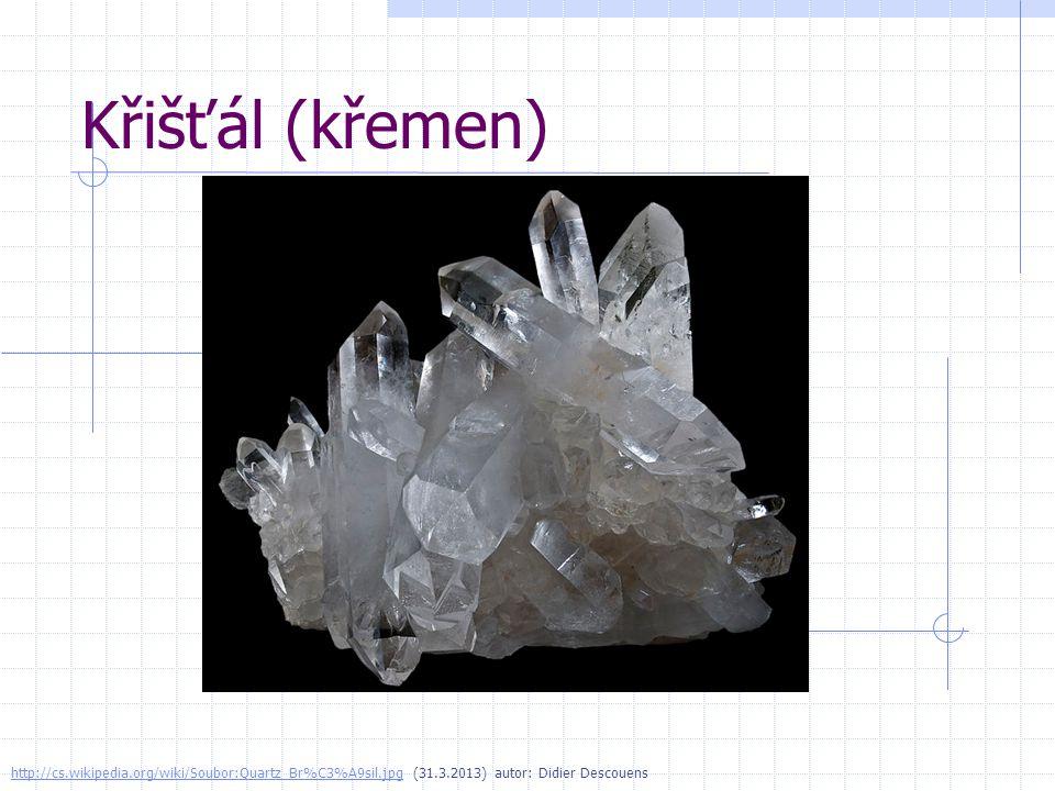 Sůl kamenná http://cs.wikipedia.org/wiki/Soubor:Selpologne.jpghttp://cs.wikipedia.org/wiki/Soubor:Selpologne.jpg (31.3.2013) autor: Didier Descouens