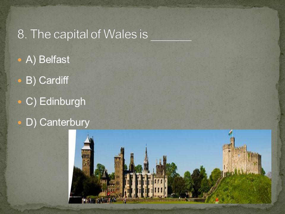 A) Belfast B) Cardiff C) Edinburgh D) Canterbury