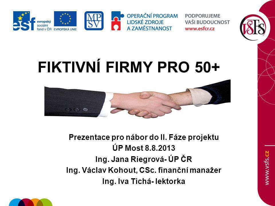 1.Základní údaje Nositel projektu: Vysoká škola finanční a správní, o.p.s.