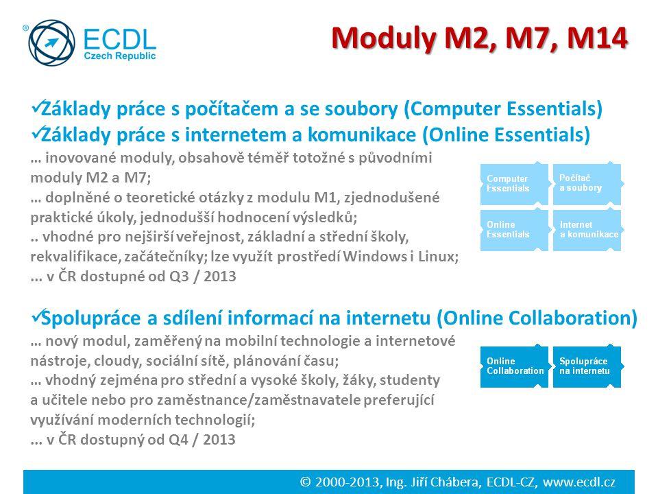© 2000-2013, Ing. Jiří Chábera, ECDL-CZ, www.ecdl.cz Spolupráce a sdílení informací na internetu (Online Collaboration) … nový modul, zaměřený na mobi