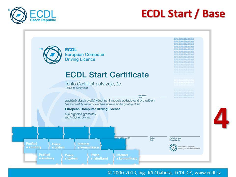 © 2000-2013, Ing. Jiří Chábera, ECDL-CZ, www.ecdl.cz ECDL Start / Base 4