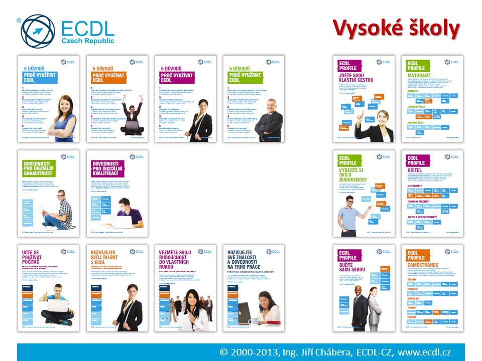© 2000-2013, Ing. Jiří Chábera, ECDL-CZ, www.ecdl.cz Vysoké školy