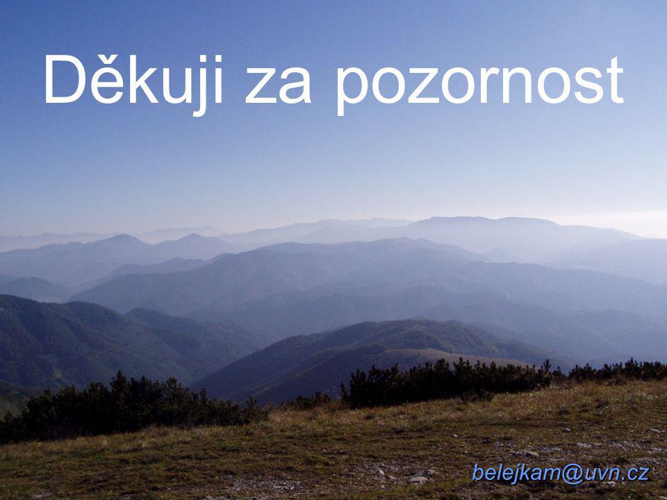 belejkam@uvn.cz Děkuji za pozornost