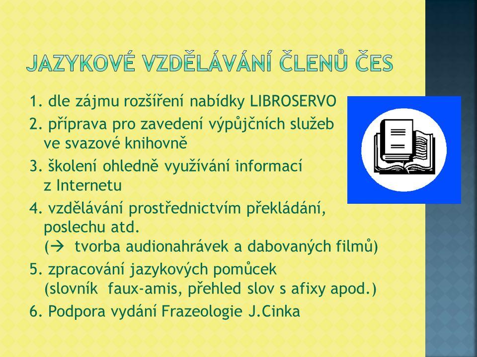 1. dle zájmu rozšíření nabídky LIBROSERVO 2.