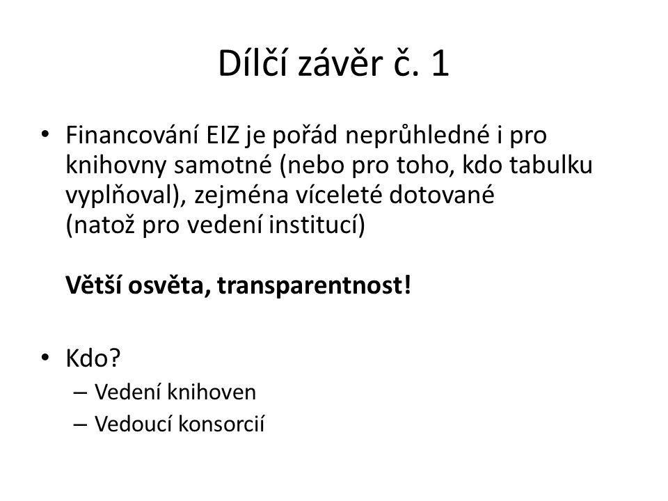Dílčí závěr č.