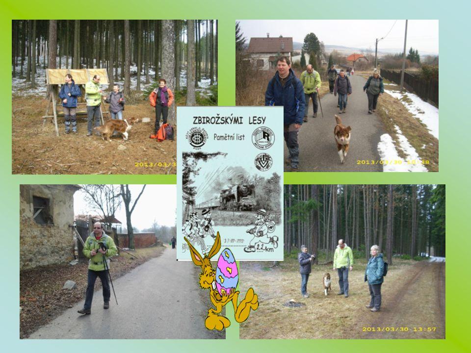 30.3.2013 Zbirožským lesem o velikonocích – 22 km
