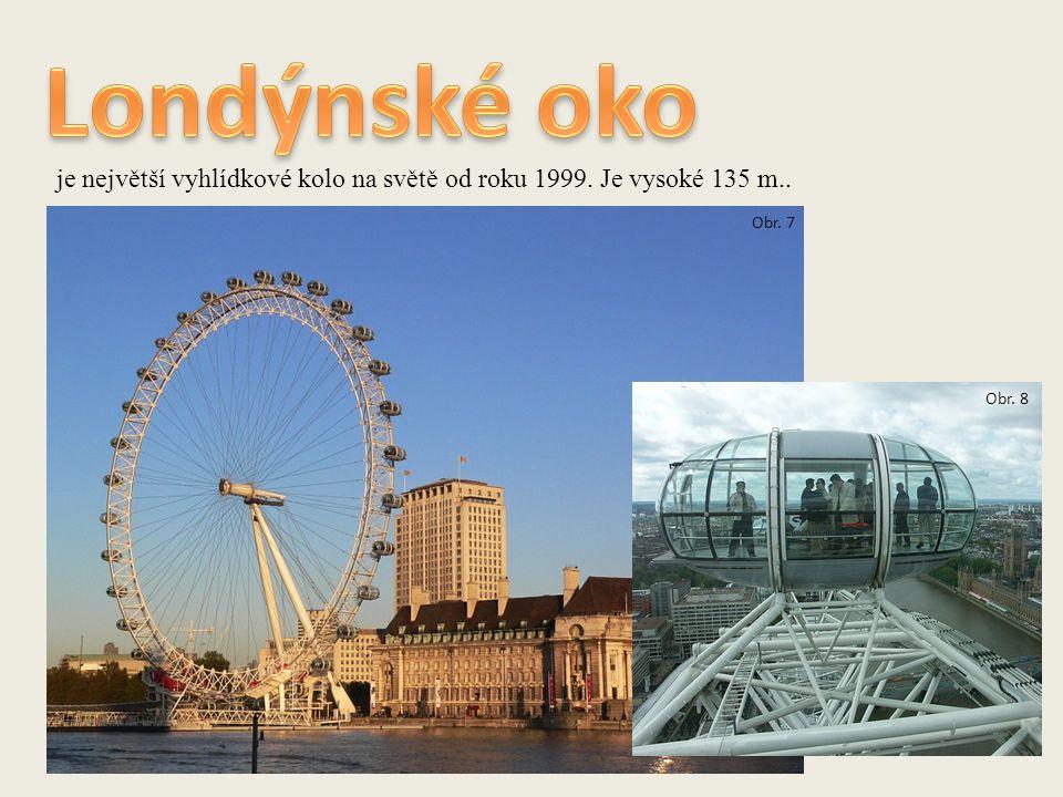 je největší vyhlídkové kolo na světě od roku 1999. Je vysoké 135 m.. Obr. 7 Obr. 8