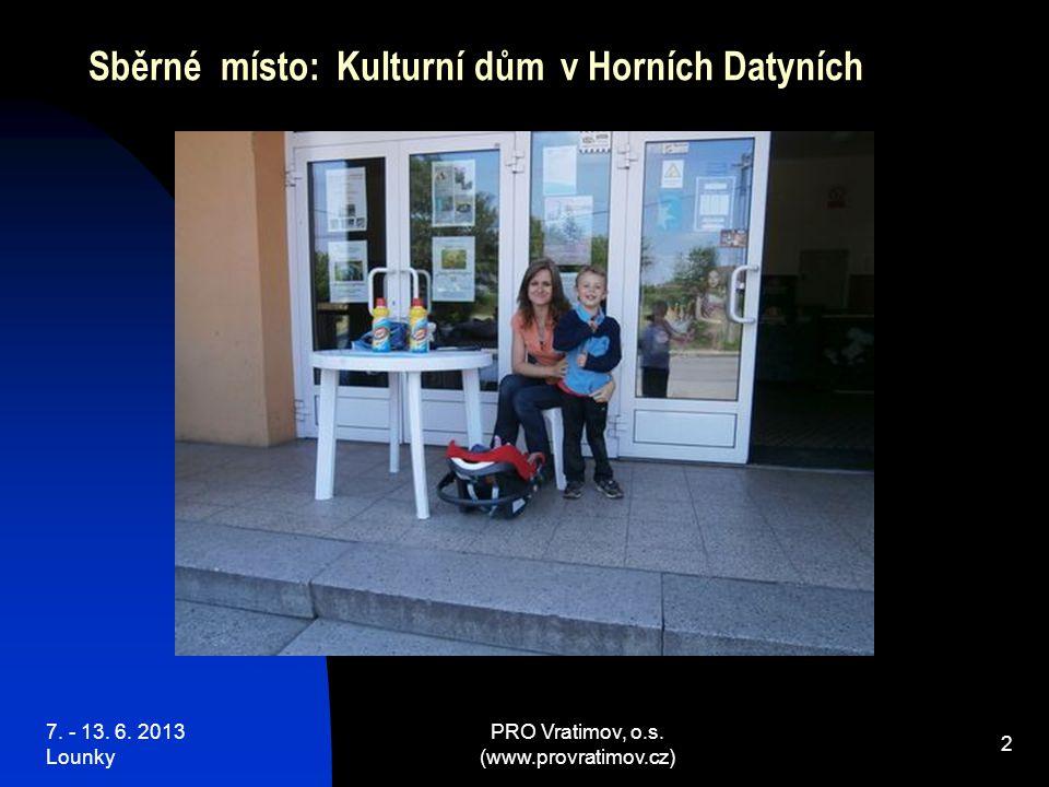 7. - 13. 6. 2013 Lounky PRO Vratimov, o.s. (www.provratimov.cz) 33