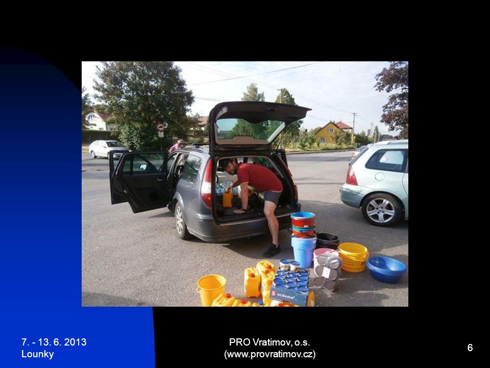 7. - 13. 6. 2013 Lounky PRO Vratimov, o.s. (www.provratimov.cz) 27 … zatopená místa