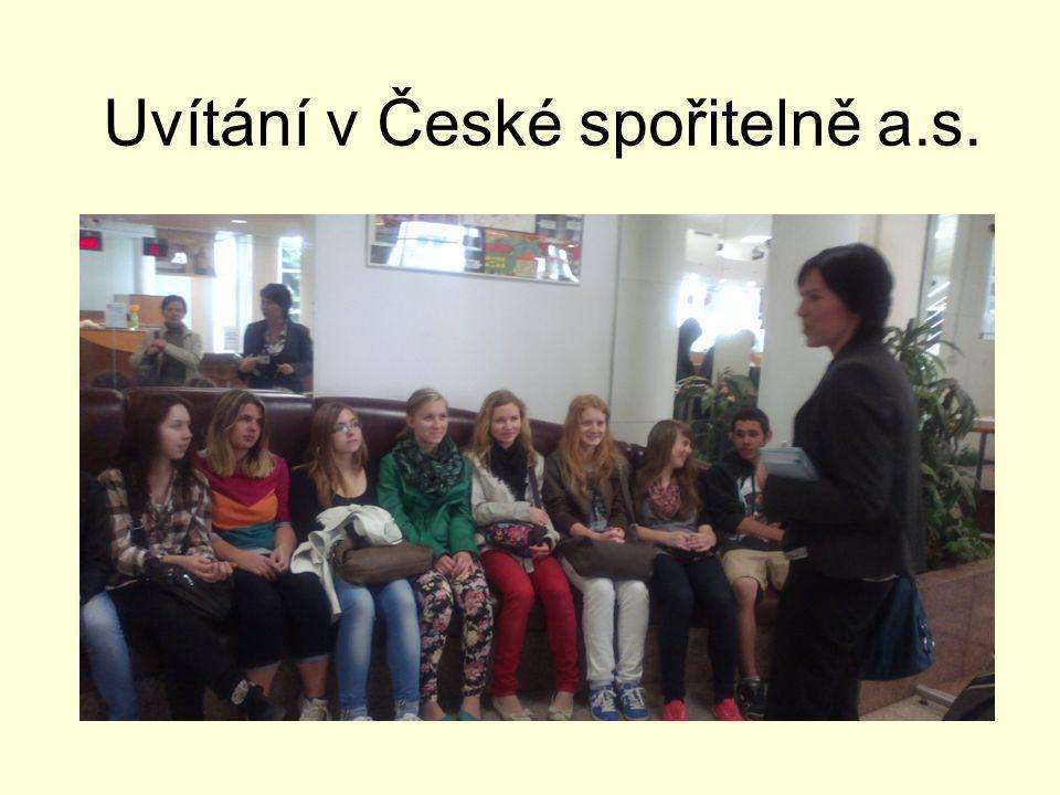 Uvítání v České spořitelně a.s.