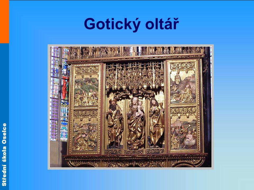 Střední škola Oselce Gotický oltář