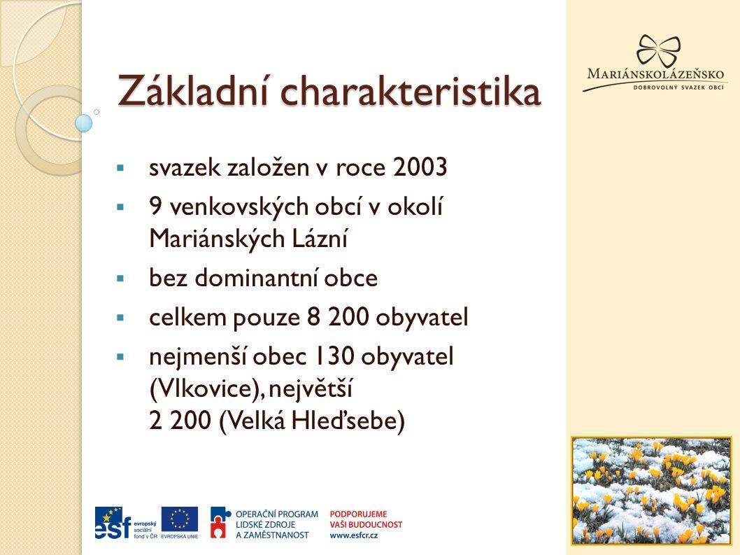 Základní charakteristika  svazek založen v roce 2003  9 venkovských obcí v okolí Mariánských Lázní  bez dominantní obce  celkem pouze 8 200 obyvatel  nejmenší obec 130 obyvatel (Vlkovice), největší 2 200 (Velká Hleďsebe)
