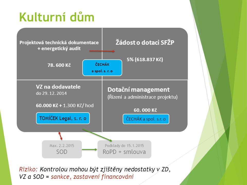Kulturní dům Projektová technická dokumentace + energetický audit 78.