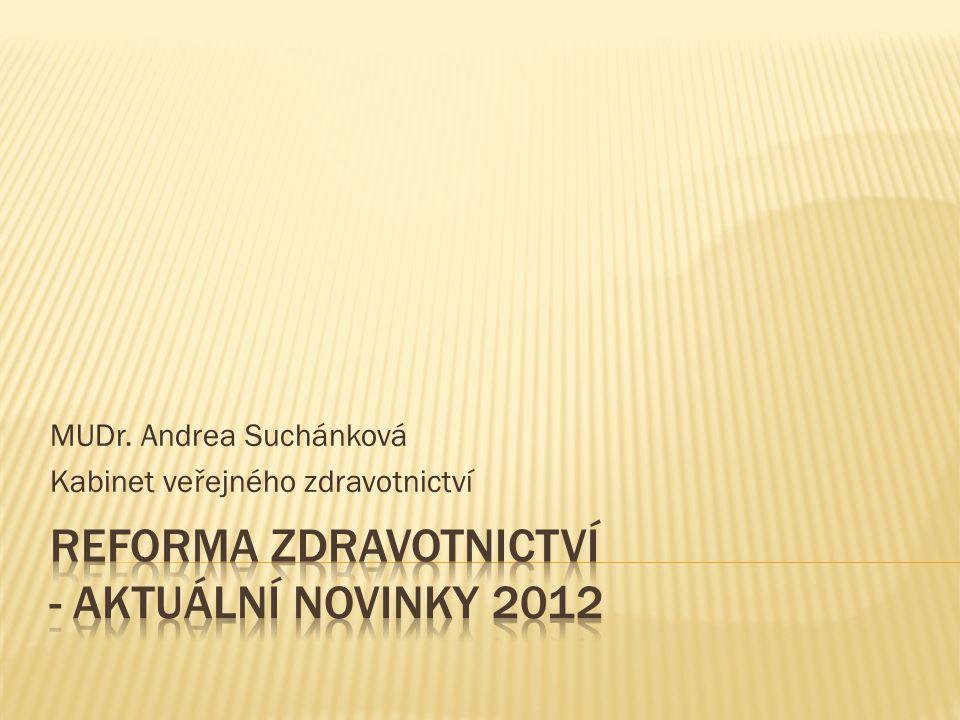 MUDr. Andrea Suchánková Kabinet veřejného zdravotnictví