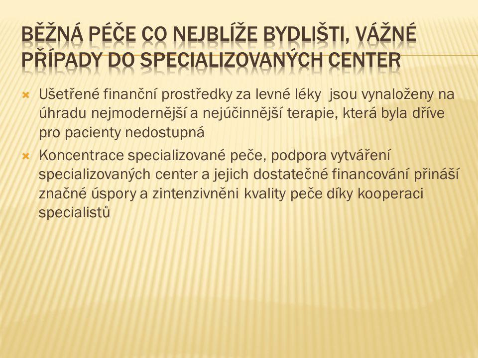  Předevšim statni fakultni nemocnice začaly využivat tzv.