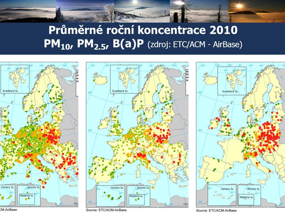 Český hydrometeorologický ústav Konference o kvalitě ovzduší v Ostravě, 2. dubna 2012 5 Průměrné roční koncentrace 2010 PM 10, PM 2.5, B(a)P (zdroj: E