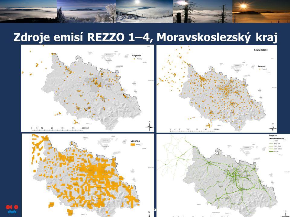 Český hydrometeorologický ústav Konference o kvalitě ovzduší v Ostravě, 2. dubna 2012 7 Zdroje emisí REZZO 1–4, Moravskoslezský kraj