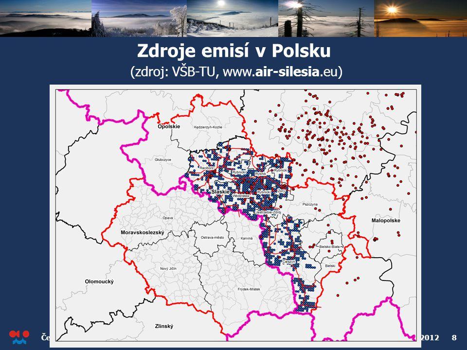 Český hydrometeorologický ústav Konference o kvalitě ovzduší v Ostravě, 2. dubna 2012 8 Zdroje emisí v Polsku (zdroj: VŠB-TU, www.air-silesia.eu)