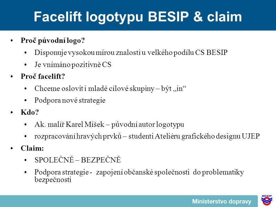Facelift logotypu BESIP & claim Proč původní logo.