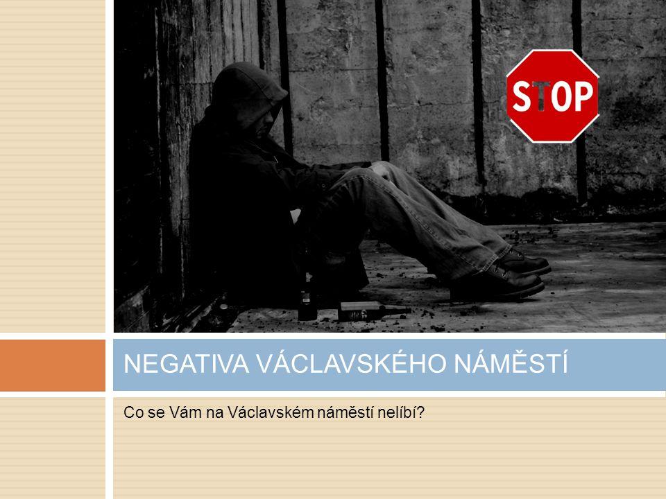 Co se Vám na Václavském náměstí nelíbí NEGATIVA VÁCLAVSKÉHO NÁMĚSTÍ
