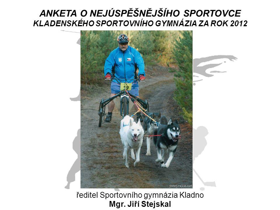 ANKETA O NEJÚSPĚŠNĚJŠÍHO SPORTOVCE KLADENSKÉHO SPORTOVNÍHO GYMNÁZIA ZA ROK 2012 ředitel Sportovního gymnázia Kladno Mgr. Jiří Stejskal