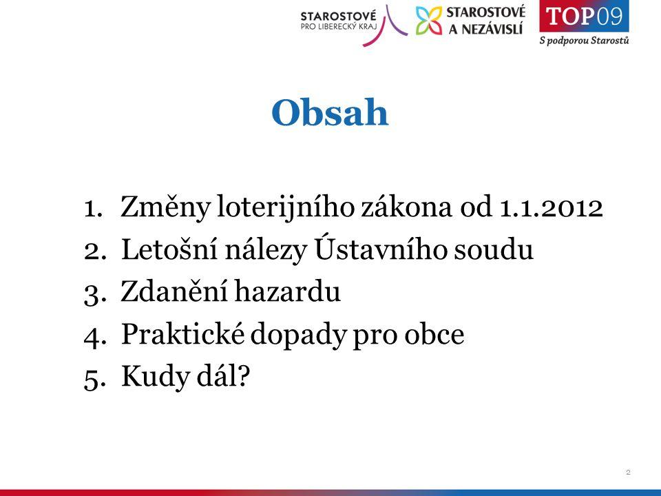 3 1.Co přinese novela loterijního zákona od roku 2012 obcím.