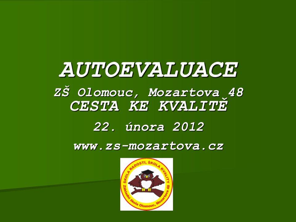AUTOEVALUACE ZŠ Olomouc, Mozartova 48 CESTA KE KVALITĚ 22. února 2012 www.zs-mozartova.cz