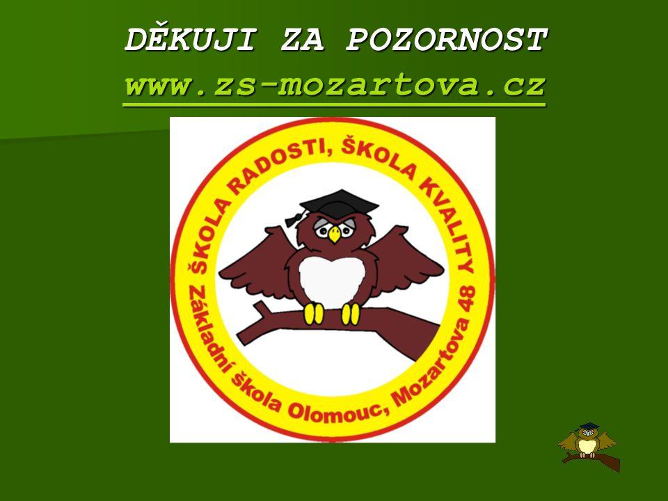 DĚKUJI ZA POZORNOST www.zs-mozartova.cz www.zs-mozartova.cz