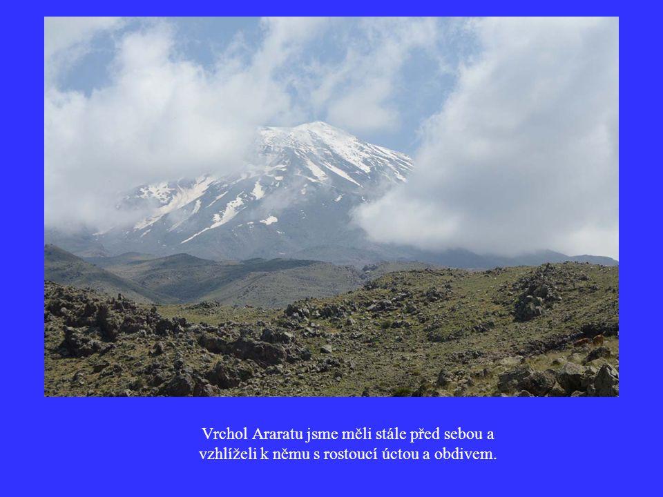 Vrchol Araratu jsme měli stále před sebou a vzhlíželi k němu s rostoucí úctou a obdivem.