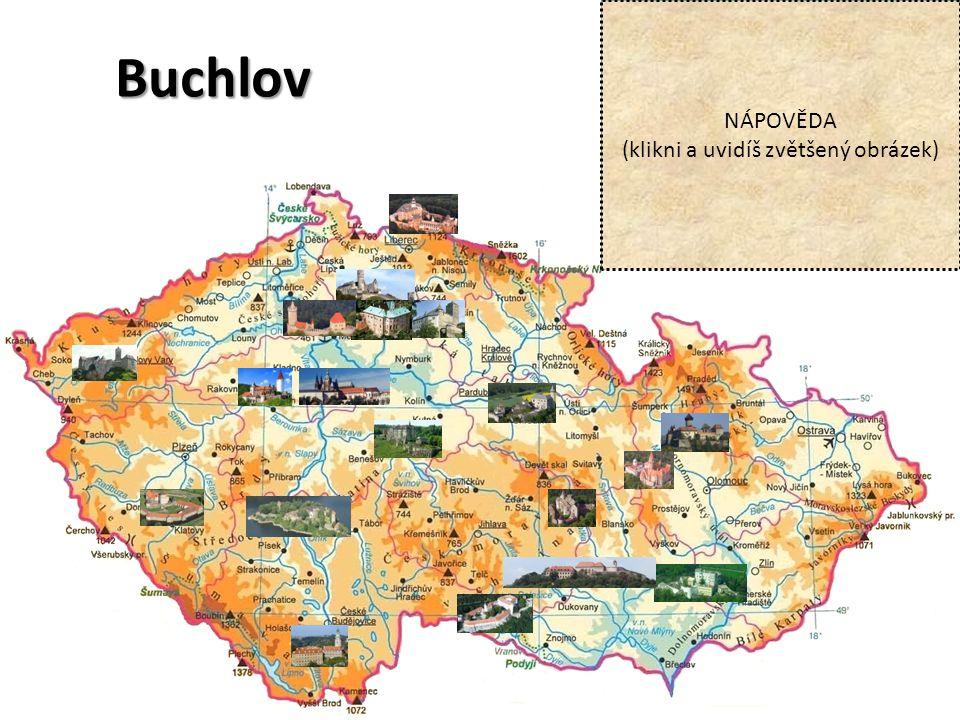 Buchlov NÁPOVĚDA (klikni a uvidíš zvětšený obrázek)
