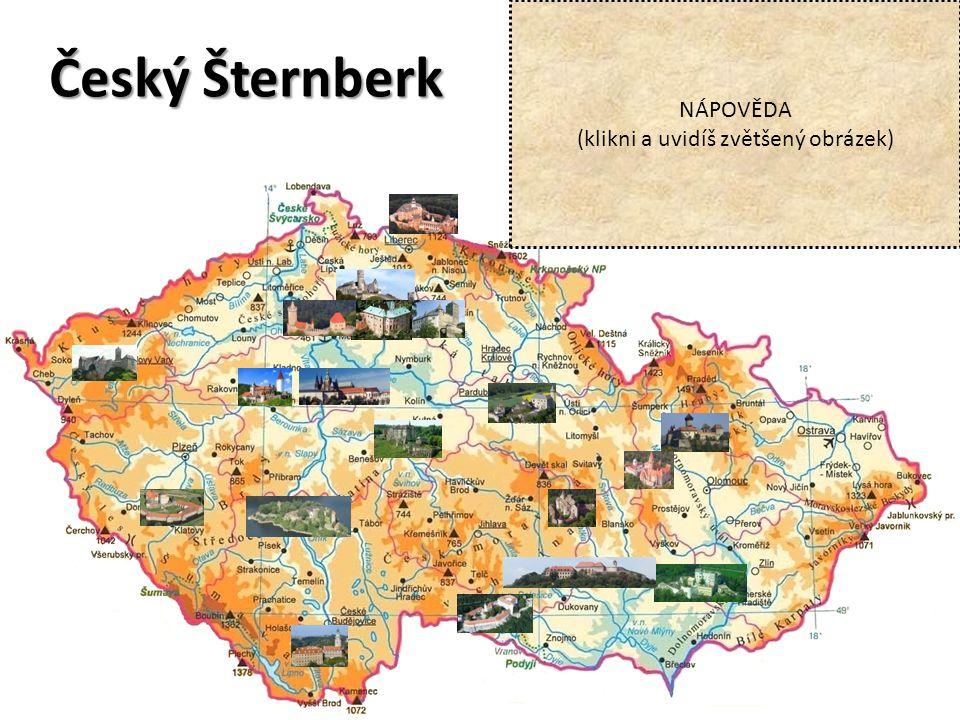 Český Šternberk NÁPOVĚDA (klikni a uvidíš zvětšený obrázek)