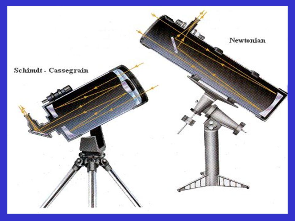 TYPY DALEKOHLEDŮ: (1)- REFRAKTOR, (2) – NEWTON, (3) –CASSEGRAIN, (4) - COUDÉ, (5) – SCHMIDT (korekční deska na kulovou vadu), (6) – MAKSUTOV (meniskus