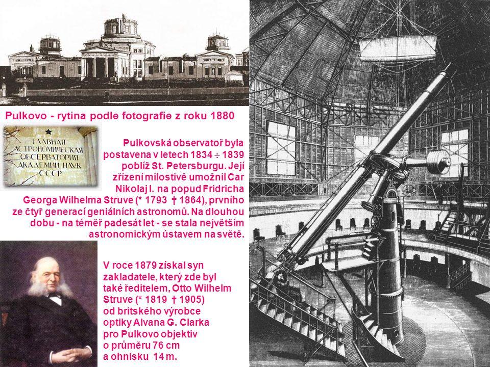 V roce 1879 získal syn zakladatele, který zde byl také ředitelem, Otto Wilhelm Struve (* 1819 † 1905) od britského výrobce optiky Alvana G.