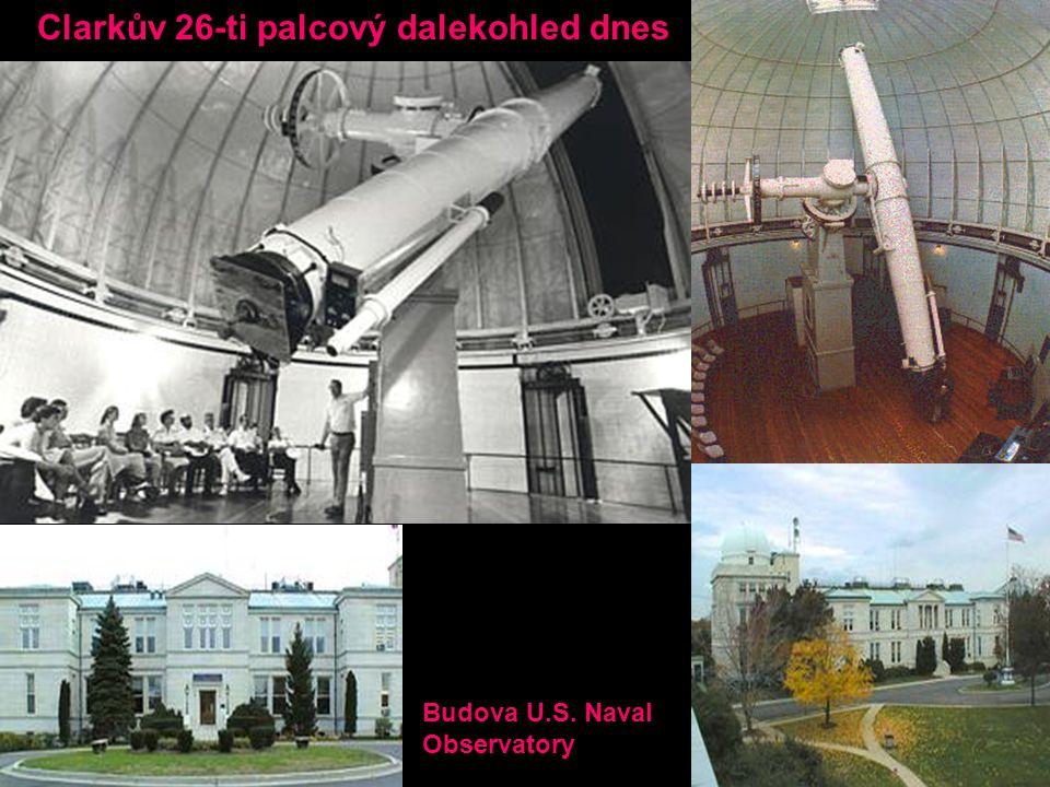Clarkův 26-ti palcový dalekohled dnes Budova U.S. Naval Observatory